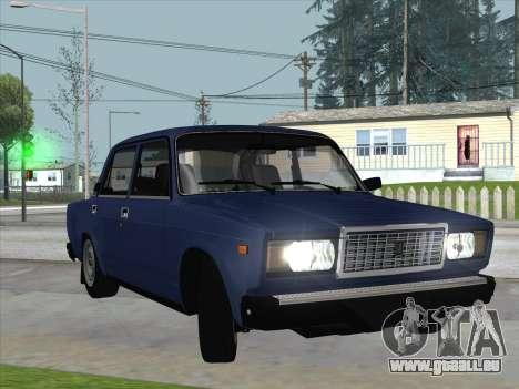 ВАЗ 21074 pour GTA San Andreas vue arrière