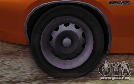 Dodge Charger 1971 Super Bee pour GTA San Andreas sur la vue arrière gauche