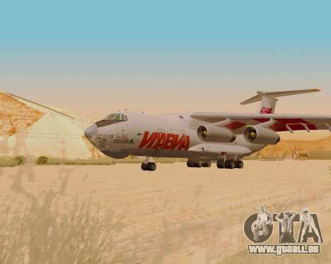 IlAvia il-76td pour GTA San Andreas sur la vue arrière gauche