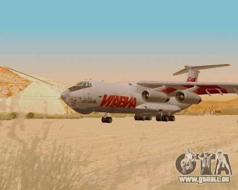 Il-76td IlAvia für GTA San Andreas zurück linke Ansicht