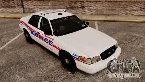 Ford Crown Victoria 2008 LCPD Patrol [ELS] pour GTA 4 Vue arrière