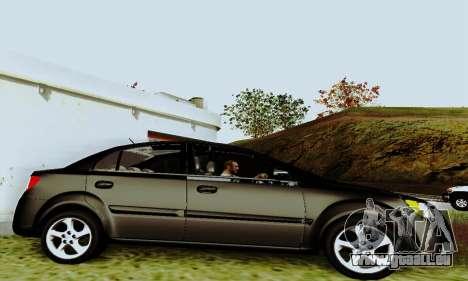 Kia Rio II 2009 pour GTA San Andreas vue arrière