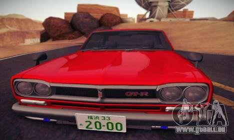 Nissan Skyline 2000GTR 1967 Hellaflush für GTA San Andreas Seitenansicht