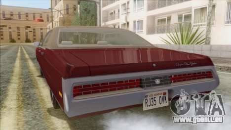 Chrysler New Yorker 4 Door Hardtop 1971 für GTA San Andreas linke Ansicht