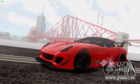 Ferrari 599XX Evolution für GTA San Andreas Seitenansicht