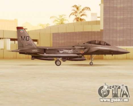 F-15E Strike Eagle für GTA San Andreas zurück linke Ansicht