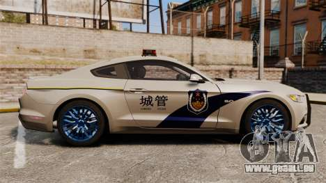 Ford Mustang GT 2015 Cheng Guan Police pour GTA 4 est une gauche
