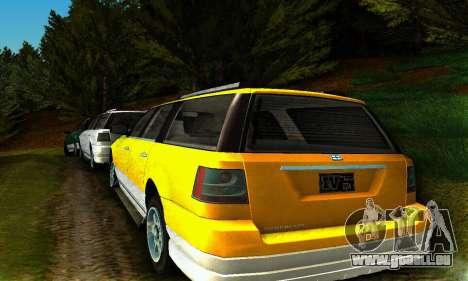 Landstalker GTA IV pour GTA San Andreas sur la vue arrière gauche