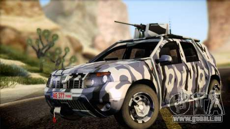 Dacia Duster Army Skin 3 für GTA San Andreas