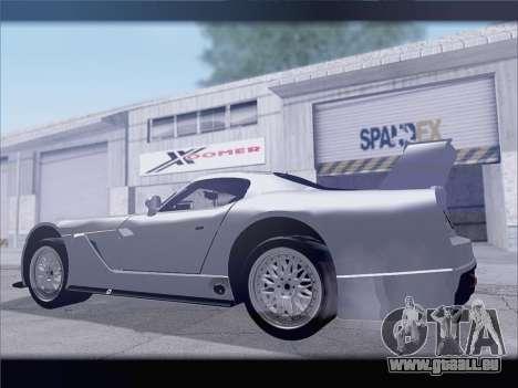 Dodge Viper Competition Coupe für GTA San Andreas Rückansicht