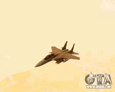 F-15E Strike Eagle für GTA San Andreas Innenansicht