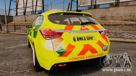 Hyundai i40 Tourer [ELS] London Ambulance für GTA 4 hinten links Ansicht