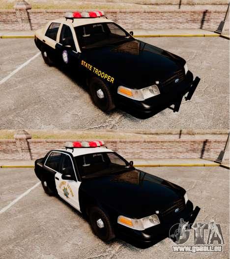 Ford Crown Victoria 1999 Florida Highway Patrol pour GTA 4 est une vue de l'intérieur