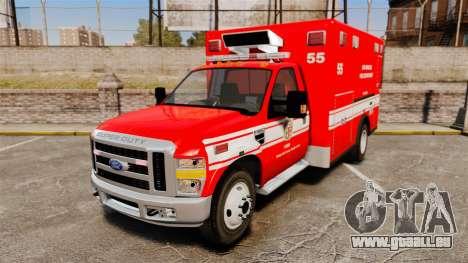 Ford E-350 LAFD Ambulance [ELS] pour GTA 4