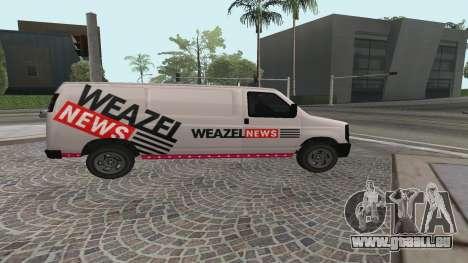 Newsvan Rumpo GTA 5 für GTA San Andreas linke Ansicht