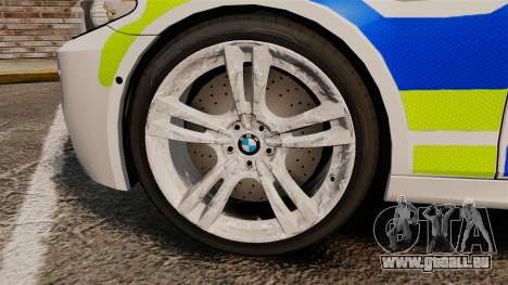 BMW M5 Greater Manchester Police [ELS] pour GTA 4 Vue arrière