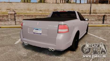 Pontiac G8 Sport Truck 2010 pour GTA 4 Vue arrière de la gauche