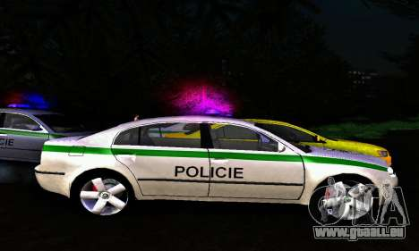 Skoda Superb POLICIE für GTA San Andreas linke Ansicht