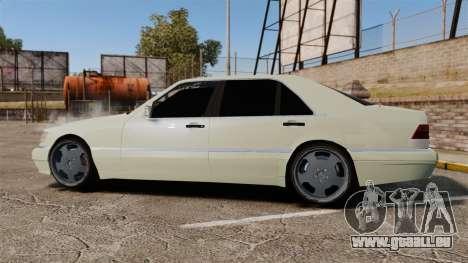 Mercedes-Benz S600 (W140) 1998 pour GTA 4 est une gauche