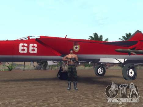 MiG 25 pour GTA San Andreas vue intérieure
