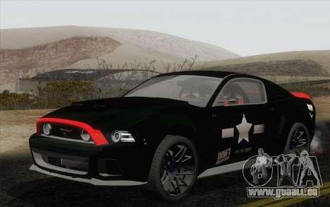 Ford Mustang GT 2013 pour GTA San Andreas vue de côté