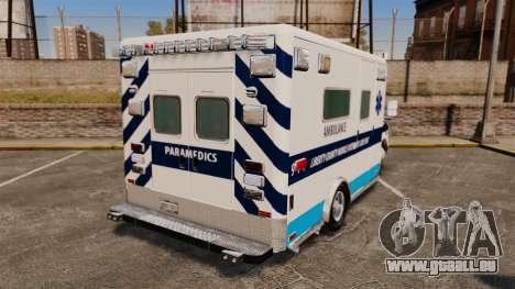 Ford E-350 Liberty Ambulance [ELS] pour GTA 4 Vue arrière de la gauche