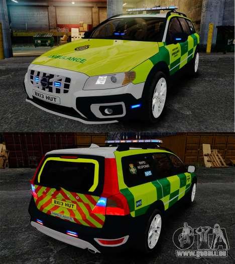 Volvo XC70 Paramedic [ELS] pour GTA 4 est une vue de l'intérieur