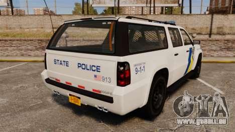 GTA V Declasse Police Ranger LCPD [ELS] pour GTA 4 Vue arrière de la gauche
