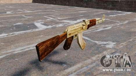 Plaqué or de AK-47 pour GTA 4 secondes d'écran