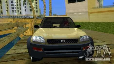 Toyota RAV 4 L 94 Fun Cruiser pour GTA Vice City sur la vue arrière gauche