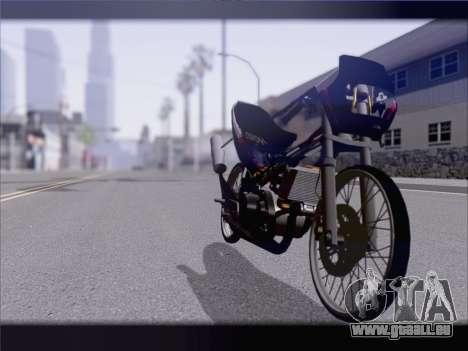 Suzuki Satria FU pour GTA San Andreas vue de droite