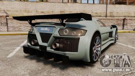 Gumpert Apollo S 2011 pour GTA 4 Vue arrière de la gauche