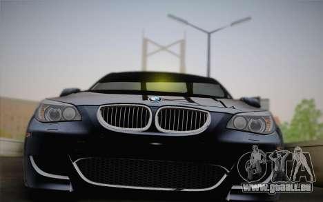 BMW M5 pour GTA San Andreas vue arrière