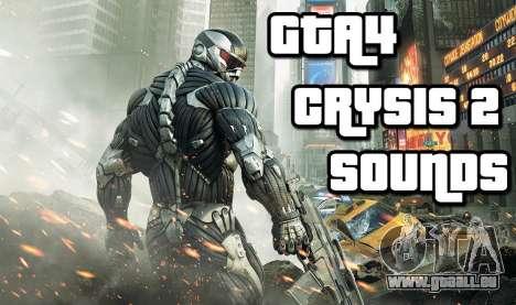 Crysis 2 Weapon Sound v 2.0 pour GTA 4