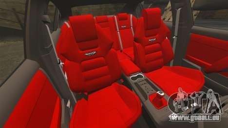 Holden HSV W427 2009 pour GTA 4 est une vue de l'intérieur