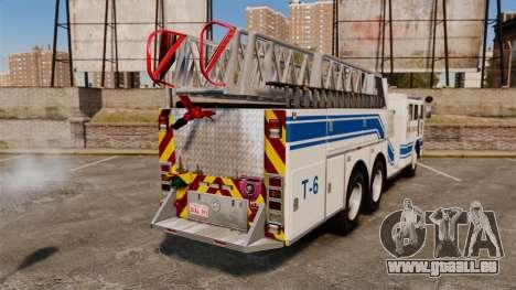MTL Firetruck MDH1000 Midmount Ladder [ELS] für GTA 4 hinten links Ansicht