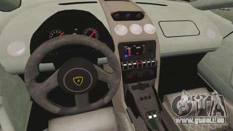 Lamborghini Gallardo 2013 v2.0 pour GTA 4 est une vue de l'intérieur