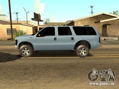 Ford Excursion pour GTA San Andreas laissé vue