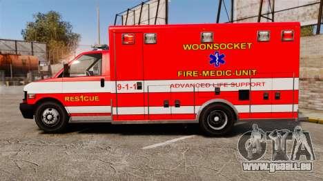 Brute Woonsocket Fire Medic Unit [ELS] pour GTA 4 est une gauche