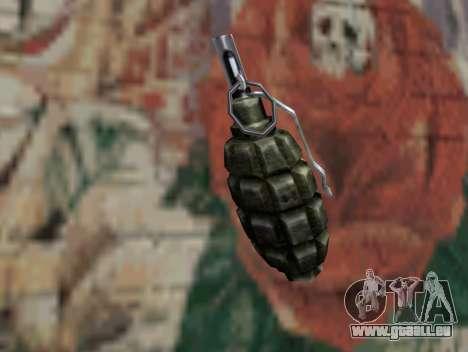 Grenade de S.T.A.L.K.E.R. pour GTA San Andreas deuxième écran