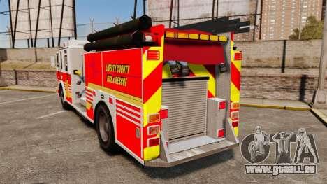 Firetruck LCFR [ELS] pour GTA 4 Vue arrière de la gauche