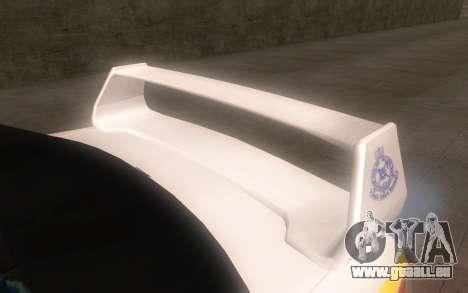 Subaru Impreza 2006 WRX STi Police Malaysian pour GTA San Andreas vue de droite