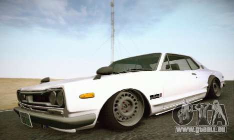 Nissan Skyline 2000GTR 1967 Hellaflush für GTA San Andreas zurück linke Ansicht