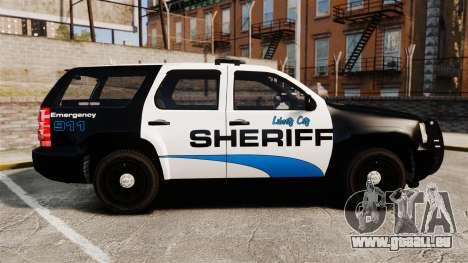 Chevrolet Tahoe 2008 Federal Signal Valor [ELS] pour GTA 4 est une gauche