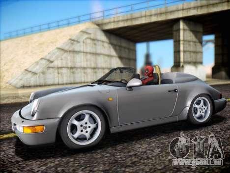Porsche 911 Speedster Carrera 2 1992 pour GTA San Andreas vue de dessous