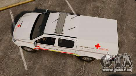 Toyota Hilux French Red Cross [ELS] für GTA 4 rechte Ansicht