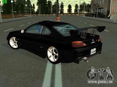 Nissan Silvia S15 Tuning pour GTA San Andreas sur la vue arrière gauche