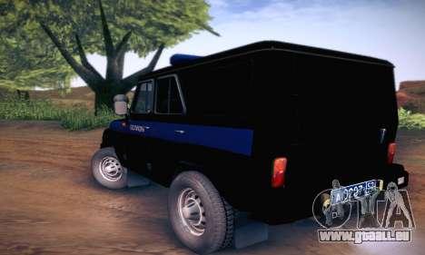 UAZ Hunter-Polizei für GTA San Andreas rechten Ansicht