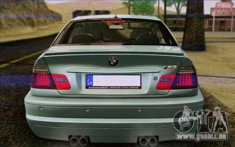 BMW M3 E46 2005 für GTA San Andreas Motor