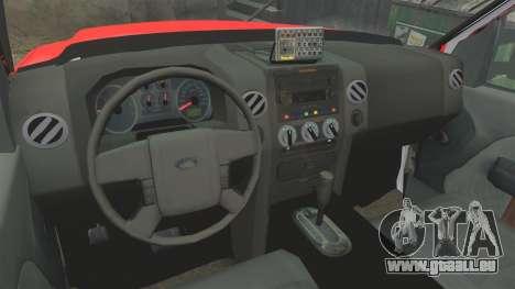 Ford E-350 LAFD Ambulance [ELS] pour GTA 4 Vue arrière